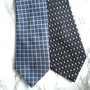 Lot of 2 Printed Ties Di Moggio Diamonds